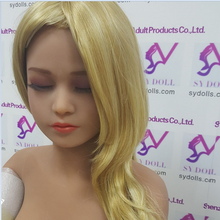 Eyes-closed Love doll head for realistic silicone sex dolls 135cm/140cm/148cm/153cm/155cm/158cm/160cm/163cm/165cm/168cm/170cm