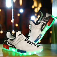 Allwesome Size 30 44 New Summer Led Luminous Shoes for Girls Boys Men Women USB Recharge Glowing Sneakers Man Light Up Shoes