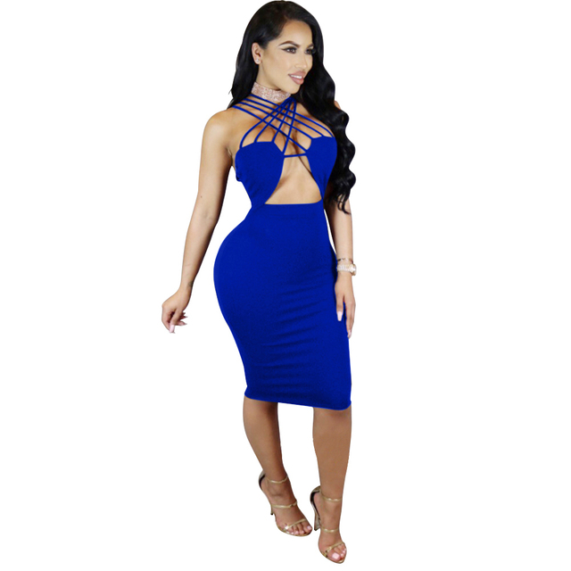 Homecoming blue bodycon dress