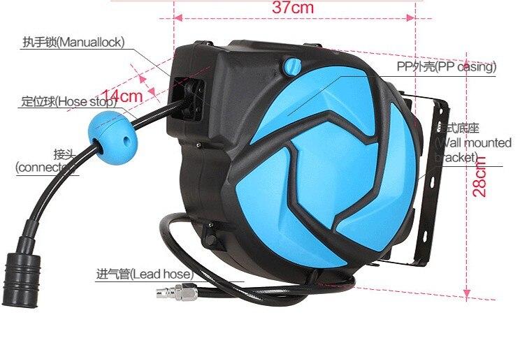 Катушка воздушного шланга, автоматическая выдвижная катушка водопроводные шланги