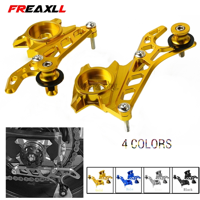 Motorcycle Left & Right Rear Wheel Axle Stand Pick Up Hook Set With Swingarm Spools For Yamaha MT-07 FZ-07 MT07 FZ07 2014-2017