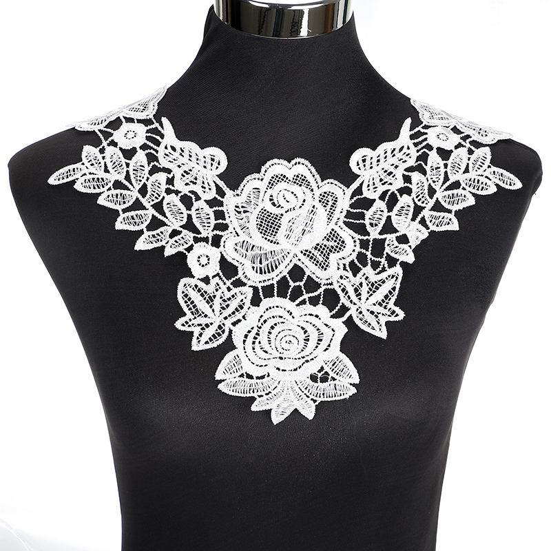 Home & Garden Lace Fast Deliver Lace Ribbon Diy Fabric Lace Trim Apparel Sewing Women Dress Decor Beautiful China Style Flower Applique Lace Embroidery Neckline