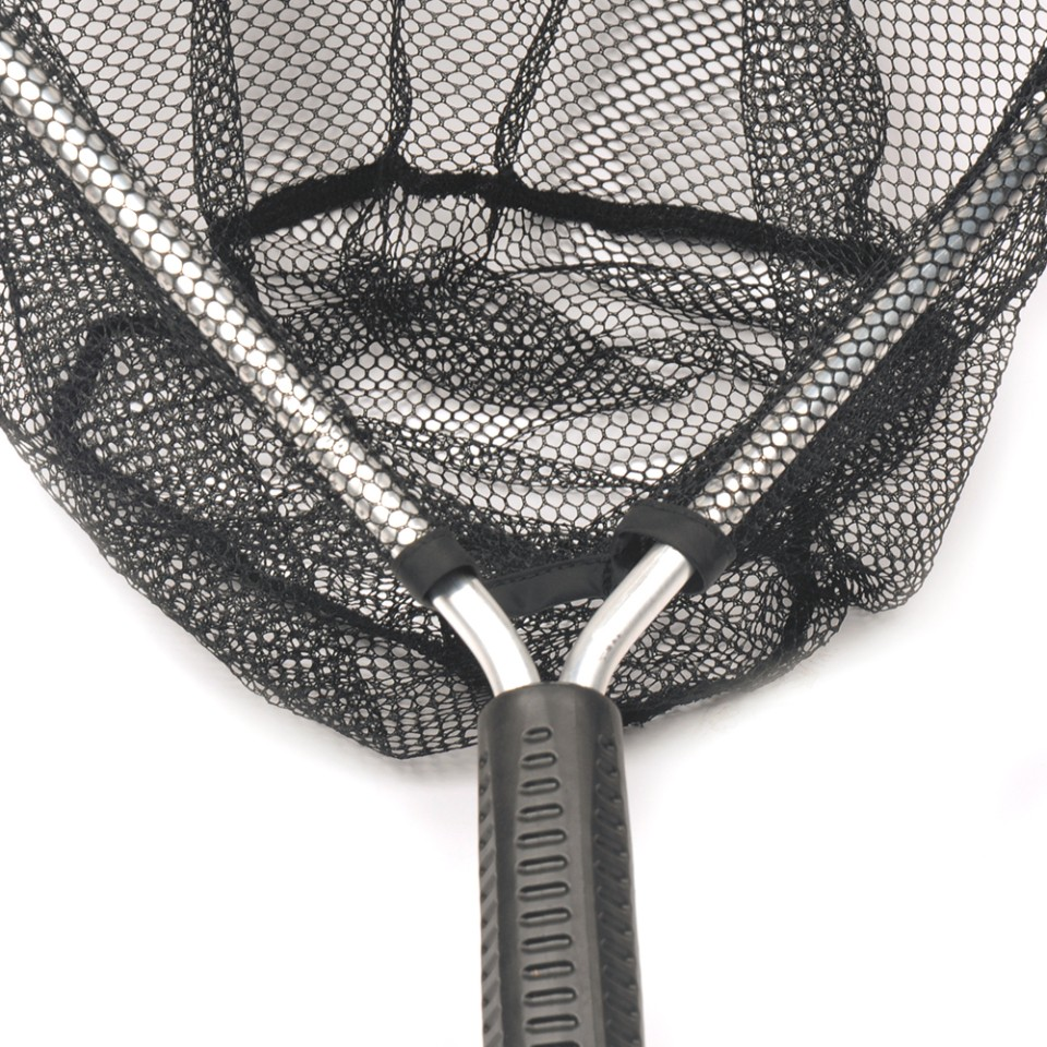1pc FishingTool Fly Fishing Aluminium Landing Nets Fish Saver Nylon Knotless Mesh Aluminum Frame for Landing Kayak Fishing