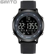 GIMTO Brand Men Sport Watch Digital LED Stopwatch Waterproof Clock Running Military Shock Watches Pedometer Smartwatch Relogios