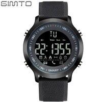 Gimto hombres de marca reloj deportivo cronómetro digital LED reloj impermeable running choque militar relojes podómetro smartwatch relogios