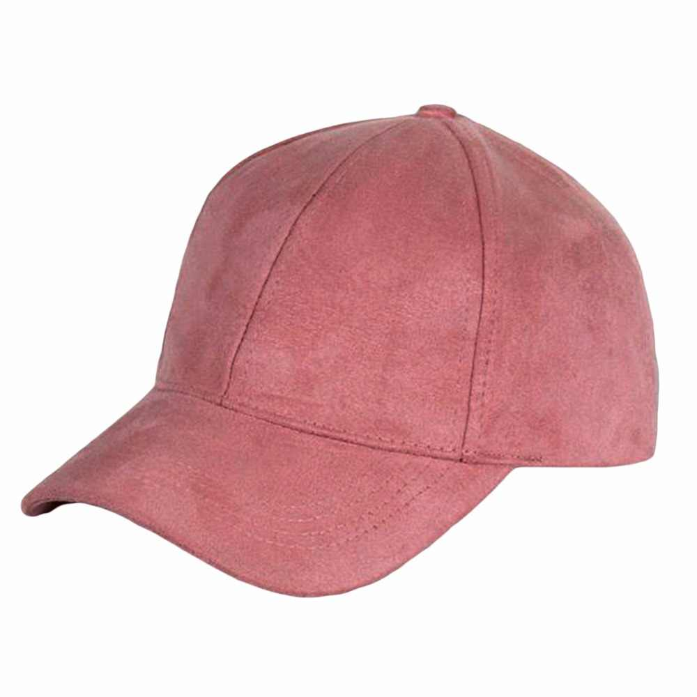 6ad2395a 2018 Fashion Suede Baseball Cap Women Men Dad Hat Snapback Casual Candy  Color Hip Hop Outdoor