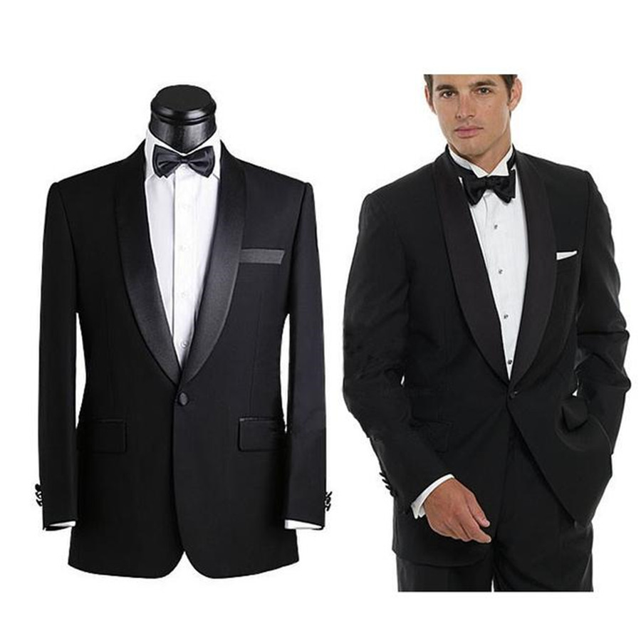 2015 New Superior quality Black Mens Suits Fashion ...