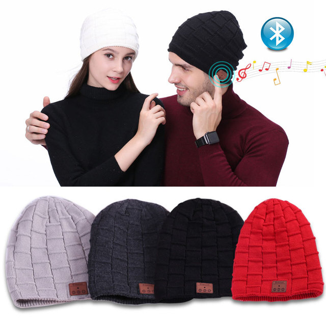 6041ac212 US $15.7 |Smart Cap Sport Bluetooth Soft Winter Hat Headset Wireless Beanie  Knitted Plus Velvet Women Men Unisex Speaker Mic Magic Hats-in Bluetooth ...