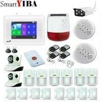 Wireless 3G SIM Home RFID Einbrecher LCD Touch Tastatur WIFI GSM Alarm System Sensor kit Englisch  russisch  Spanisch Stimme