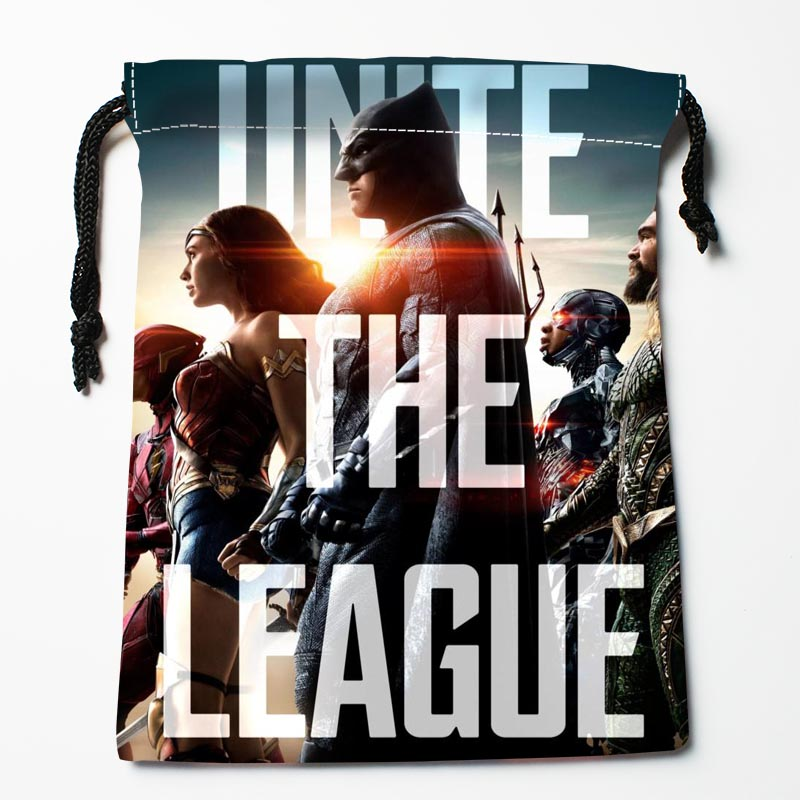 New Arrive  Justice League Drawstring Bags Custom Storage Bags Storage Printed Gift Bags More Size 27x35cm DIY Your Picture