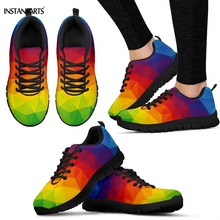 INSTANTARTS Vibrant Rainbow Pride Pattern Woman Man Sports Shoes Breathable Trai