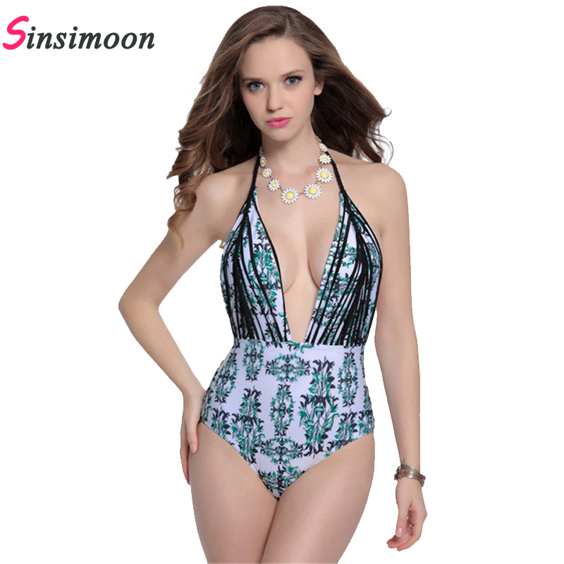 Sexy Hand braid green bamboo high cut one piece swiming suit bandage women push up fato de banho swim suits women bathing suits
