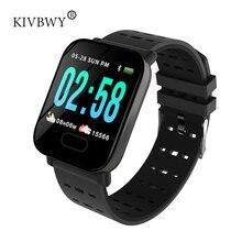 KIVBWY Смарт-часы монитор сердечного ритма Спорт Фитнес трекер сна монитор Водонепроницаемый спортивные часы группа для IOS Android подарки