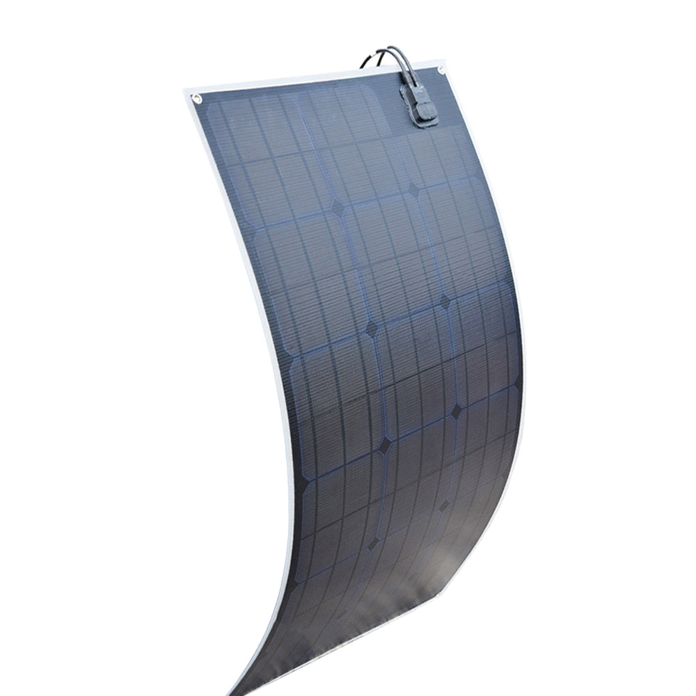 20.5V 100W black Flexible Solar Panel Charger ( ETFE Layer, MC4 connectors) Semi Bendable Water-resistant Solar Charger cell