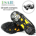 BSAID Non-slip Crampons Ice Gripper 18 Teeth Spike Grips Cleats Ice Gripper For Shoes Boots Women Men For Ice Snow Climbing