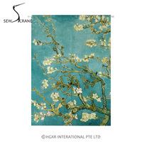 SewCrane Almond Blossom Tree Home Restaurant Door Curtain Noren Doorway Room Divider