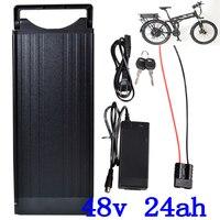 48 48 V 1000 W 1500 W 2000 W bateria V 24AH 48 V elétrica de lítio rack traseiro da bateria ebike scooter carregador de bateria com 54.6 V 2A