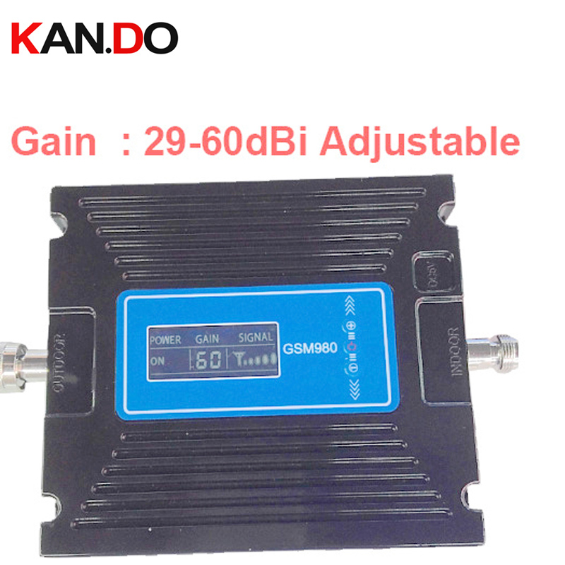 60 Gain Adjustable LCD Display Function Dual Band Booster GSM 900Mhz Booster+3G WCDMA 2100Mhz Repeater 27dbm Dual Band Booster