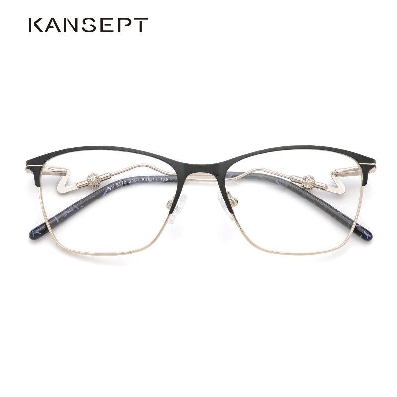 Metal Women Glasses Frame Women 2019 New Designer Optical Prescription Glasses Frame Clear Lens Eyeglasses #BV5178