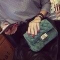 Новая Мода Бархат ткань посланник цепи сумки, бренд desinger ромбической женщины мини Tote Сцепления сумка зима сумка crossbody мешок