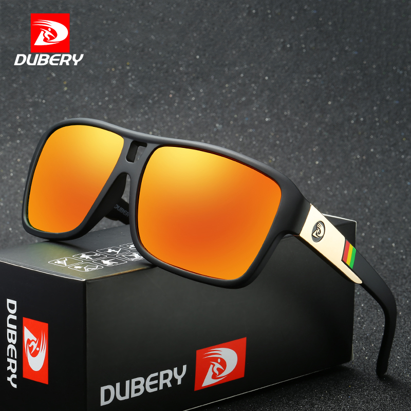 DUBERY Polarized Sunglasses Men's Driver Shades Male Sun Glasses For Men Original 2017 Luxury Brand Designer Oculos