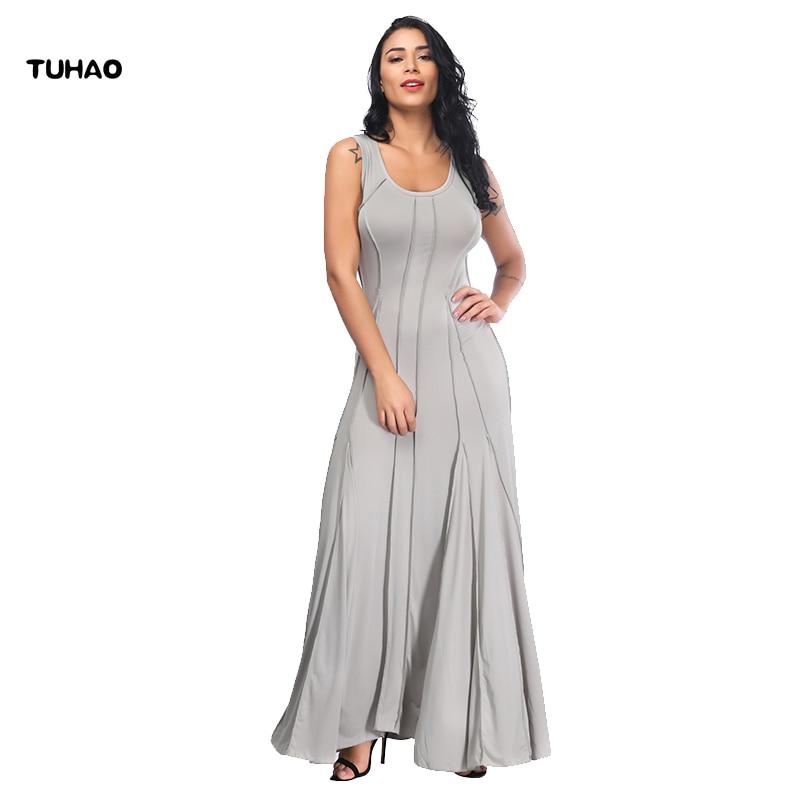 4041d00c3723 2018 Vintage Casual Delle Maxi grigio Dell esercito Femminile Donne Tuhao  Armato verde Lunghi Vestito Il ...