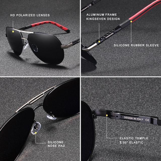 KINGSEVEN Aluminium Retro Polarized Sunglasses