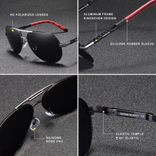 KINGSEVEN Men Vintage Aluminum Polarized Sunglasses Classic Brand Sun glasses Coating Lens Driving Shades For Men/Wome
