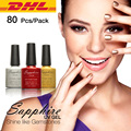 DHL/EMS Shipping 80Pcs Sapphire Gel UV Gel 7.3ml Color Bottle Soak Off UV Gel Polish 14 Days Long lasting Gorgeous Color