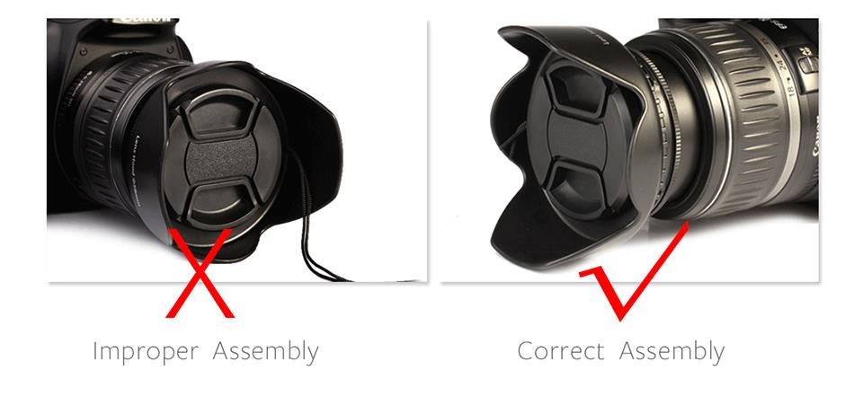 K&F CONCEPT UV+CPL+FLD+ND4 Neutral Density Camera Lens Filter Kit+Bag+Lens Hood Cap+Cleaning Cloth For Canon/Nikon/Sony DSLR 17