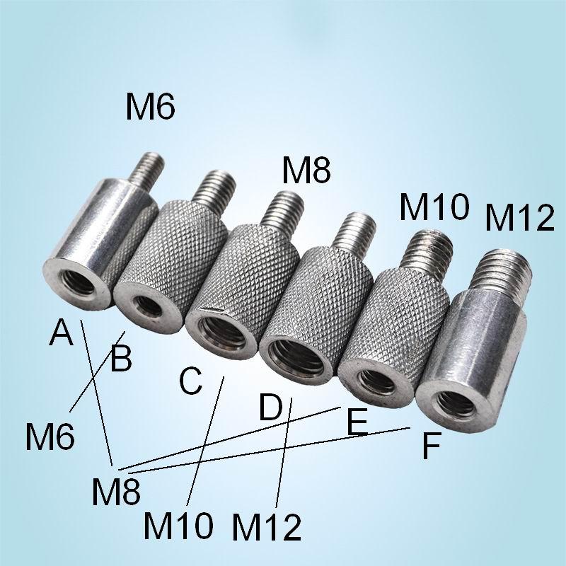 NUR 1PC!! Ändern M6 zu M8 zu M10 zu M8 zu M12 Gerändelt Schraube Größen Konvertierung Farbe Kann Gelb 1pc sagen uns Größe in Nachrichten