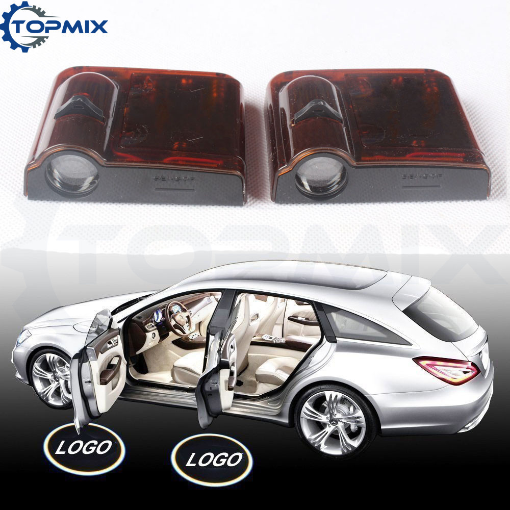 2pcs No Drilling Car Door Welcome Light Laser Car Door Shadow Led Projector Logo Wireless Car Door Led Light Universal For Bmw To Prevent And Cure Diseases