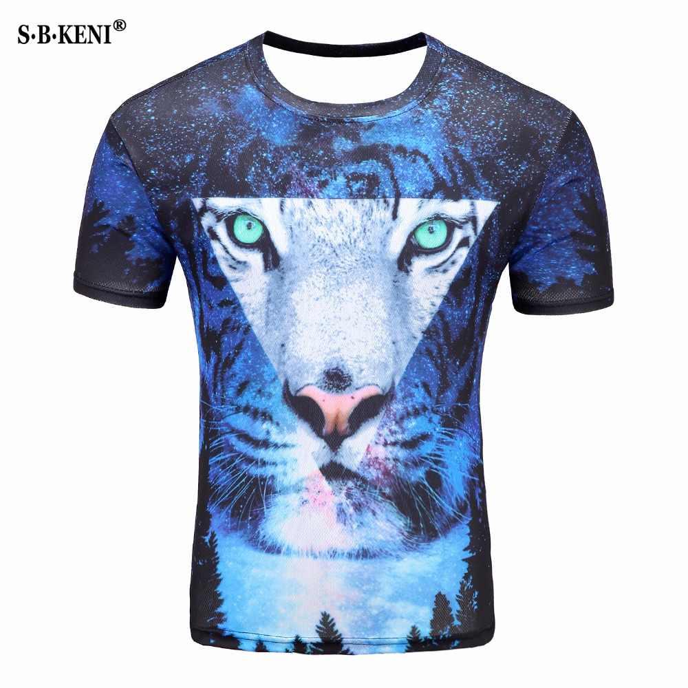 c2e0c6823 Star Blank Lion 3D Print Creative Men Women T shirt Hip hop Fashion Short  Sleeve Funny