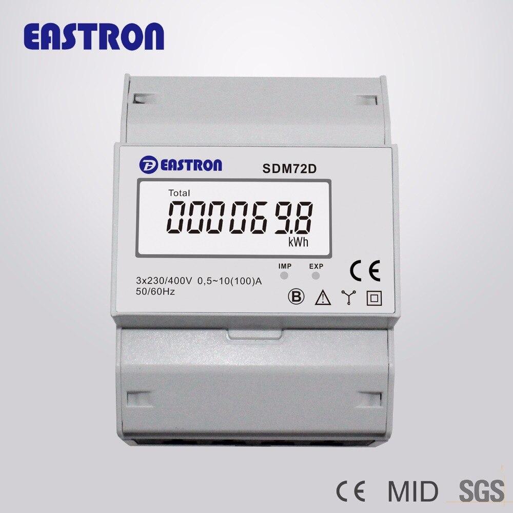 SDM72D, 220/230 V 10 (100) Ein, 3 Phase 4 Draht Din schiene ...