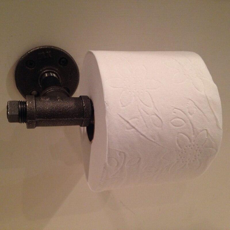 Forró eladó falra szerelhető WC-papír tartó Ipari antik - Szervezés és tárolás - Fénykép 4