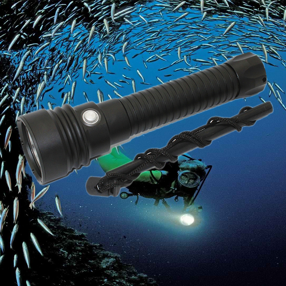 XHP70 Cree LED Underwater Flashlight Waterproof Diving Flashlight Dive Torch White/Warm White Light Lamp 26650 Scuba Lanterna 4500lm 4cree xml t6 led lanttern waterproof underwater scuba dive diving flashlight torch light lamp for diving by 26650 battery