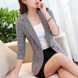 J61665 костюм Женская куртка Женская рабочая одежда с рукавом семь плюс размер женская верхняя одежда