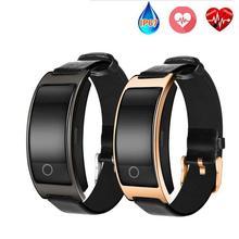CK11S Smart группа крови Давление монитор сердечного ритма наручные часы умный Браслет фитнес-браслет трекер Шагомер Браслет