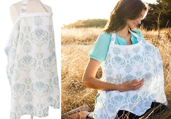 Breathable breastfeeding cover 100%cotton muslin Mother feeding baby's apron Mommy's outdoors feeding baby breast nursing cover 1