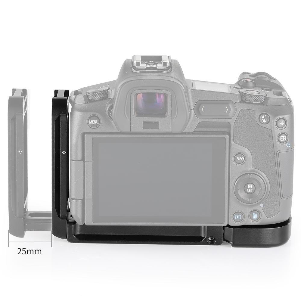 Petite plaque de support en L pour appareil photo Canon EOS R à dégagement rapide arca-swiss Standard plaque de montage en L plaque latérale et plaque de base-2257 - 5