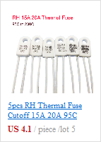 LOT of 5 five THERMAL CUTOFF FUSE 216°C
