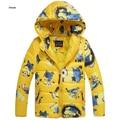 New Minions Baby Girls Boys Jacket Kids Hoodies Winter Warm thick Coat Children Cartoon Lovely Outerwear