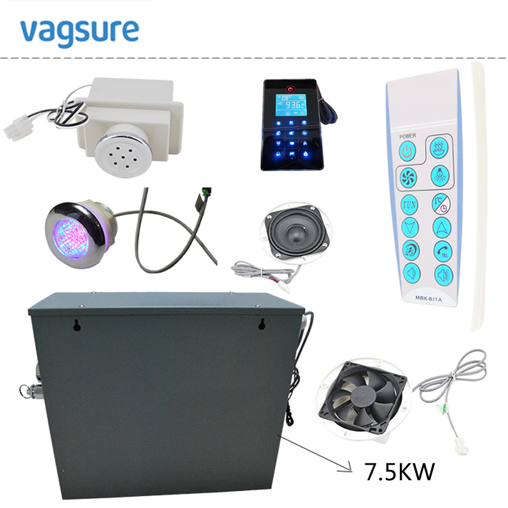 240V/1phase or 380V/3Phase power supply 7.5KW full kits shower steam bath generator for sauna with time and temperature setting dc house new 9kw steam generator sauna bath home spa shower