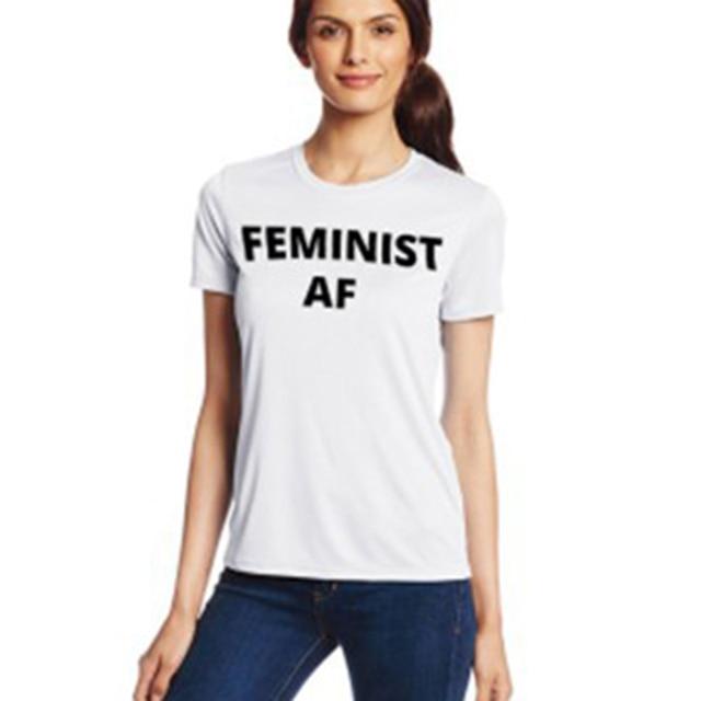 497e1a50c Momoluna Women Men Summer Tops FEMINIST AF Letters Print T Shirt Funny Top  Tee Shirt Black White - Gray Female Tshirt