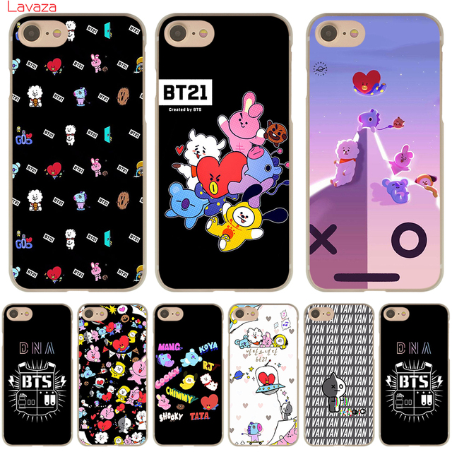 official photos 14974 8f569 US $1.99 23% OFF|Lavaza BTS BT21 Hard Phone Case for Apple iPhone 6 6s 7 8  Plus 4 4S 5 5S SE 5C Cover for iPhone XS Max XR Cases-in Half-wrapped Case  ...