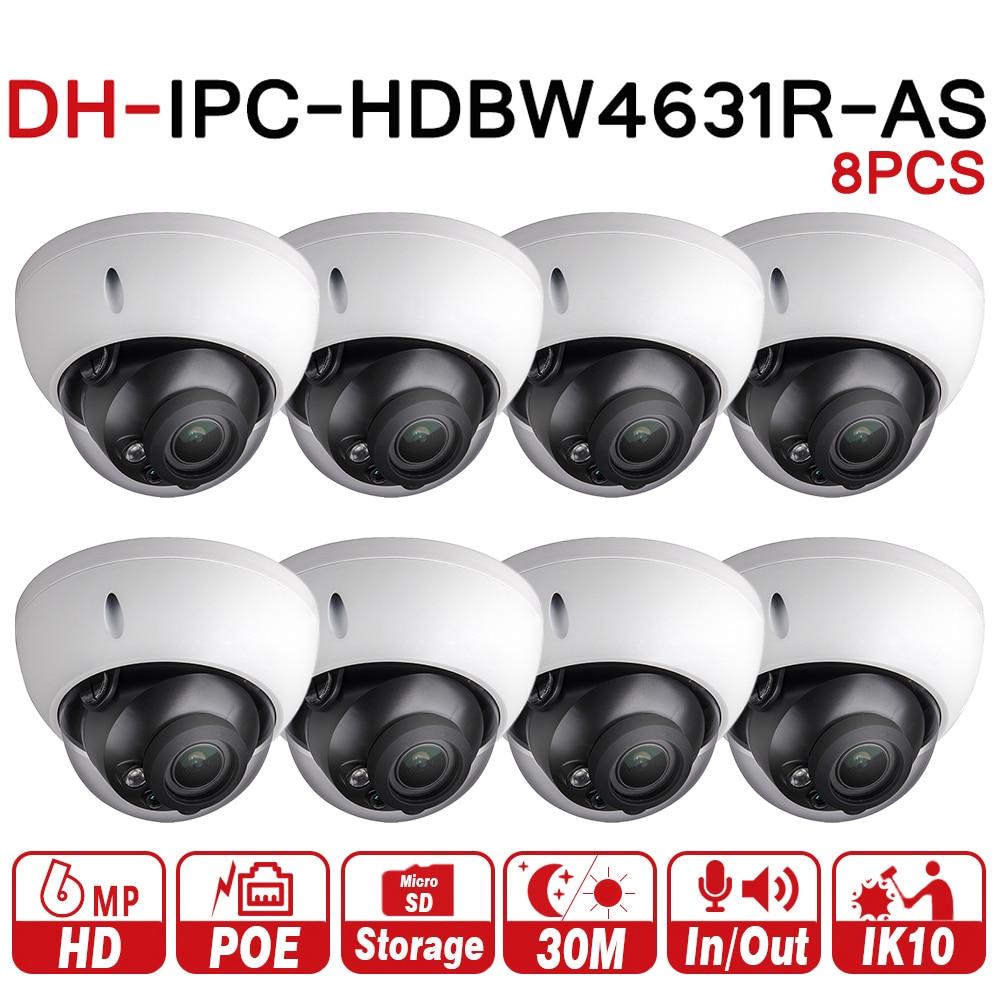 купить DH 6MP Camera IPC-HDBW4631R-AS Upgrade From IPC-HDBW4431R-AS IK10 IP67 Audio &Alarm Port PoE Camera With SD Slot 8pcs/lot по цене 34741.79 рублей