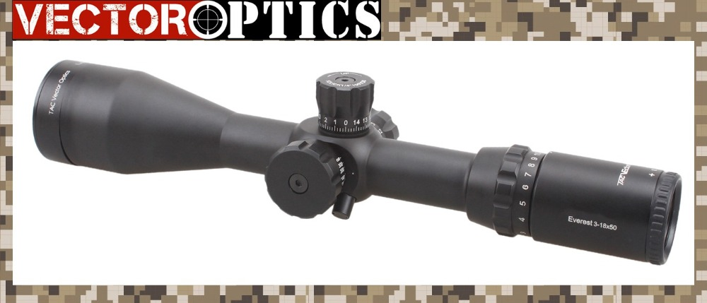 Vector Optics Everest 3-18x50 Tactical Shooting Riflescope MPTR Reticle with Killflash 30mm Mount Ring Side Focus Scope vector optics nova 3 5 10x42 ao objective focus hunting shooting riflescope 1 inch monotube with weaver or dovetail mount rings
