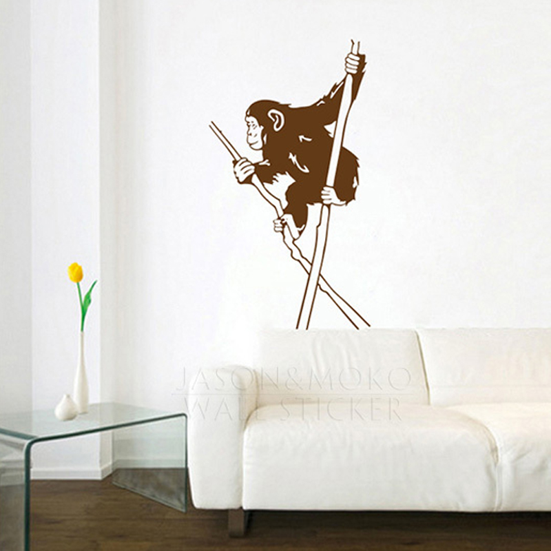 Banksy Funny Monkey Juggling Walk Vinyl Wall Stickers Mural Wallpaper Decal For Bedroom Living Room Home Decor Art 60x100cm Xmas In From