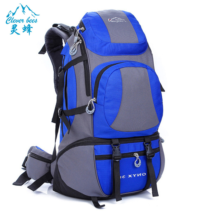 ФОТО 45L outdoor sports backpack Large capacity Waterproof nylon camping hiking mountaineering travel