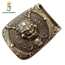 FAJARINA New Unique Design Many Models Options Solid Brass Buckle Only for 3.6-3.9cm Width Belt Buckles Men Free Shipping BCK027